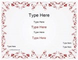 wedding-certificate-with-red-flowered-border