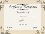 certificate-of-participation--business-theme