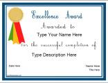 Nursery school education certificate templates certificate for excellence yelopaper Gallery