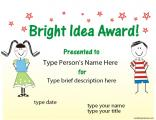 award-for-a-bright-idea