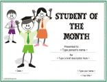 student-of-the-month-award