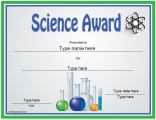 science-award-template