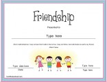 friendship-certificate