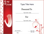 friendship-certificate--red-theme