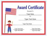 fourth-of-july-award-certificate